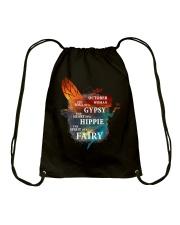 I am a October Woman Drawstring Bag front