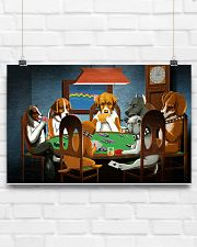 Grumpy Dogs Playing Pokers 17x11 Poster poster-landscape-17x11-lifestyle-17