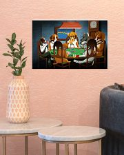 Grumpy Dogs Playing Pokers 17x11 Poster poster-landscape-17x11-lifestyle-21
