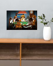 Grumpy Dogs Playing Pokers 17x11 Poster poster-landscape-17x11-lifestyle-24