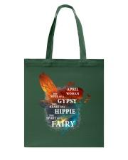 I am a April Woman Tote Bag front