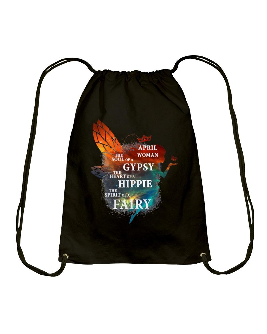 I am a April Woman Drawstring Bag