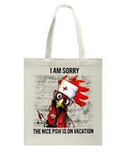 The Nice Psw Is On Vacation Tote Bag thumbnail