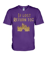 Funny - If lost return to V-Neck T-Shirt front