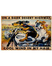 MOTORCYCLE DARK DESERT HIGH 24x16 Poster front