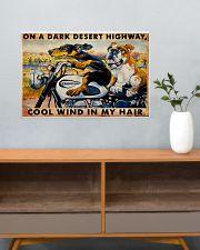 MOTORCYCLE DARK DESERT HIGH 24x16 Poster poster-landscape-24x16-lifestyle-25