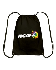 UNICORN IDGAF Drawstring Bag thumbnail