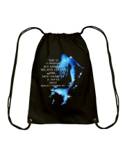 She Is A Mermaid Drawstring Bag thumbnail
