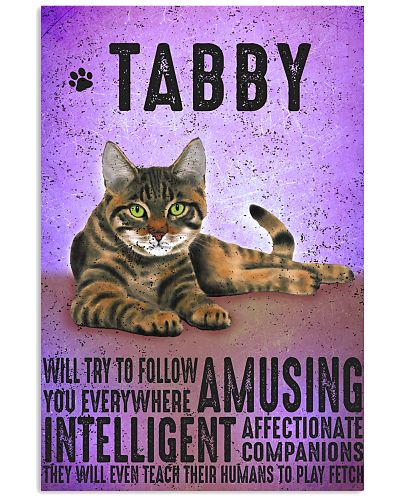 Tabby Cat Vintage Poster