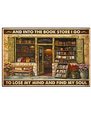 Into The Bookstore I Go 17x11 Poster front