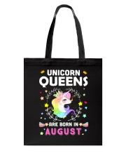 Unicorn Queens Are Born In August Tote Bag thumbnail