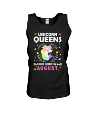 Unicorn Queens Are Born In August Unisex Tank thumbnail