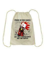 Nurse Proud Retired Nurse Drawstring Bag thumbnail