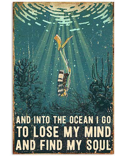 Scuba Diving Retro Poster 1