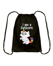 Unicorn - I Am A Caticorn Drawstring Bag thumbnail
