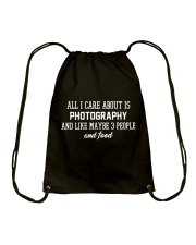 All I care about is photography Drawstring Bag thumbnail