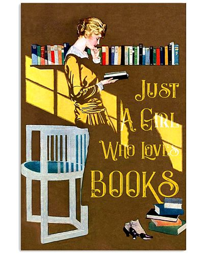 Books Just A Girl Reading Book Deco Art