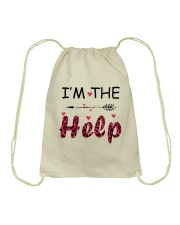 Wine I'm The Help Drawstring Bag thumbnail