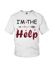 Wine I'm The Help Youth T-Shirt thumbnail