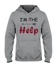 Wine I'm The Help Hooded Sweatshirt thumbnail