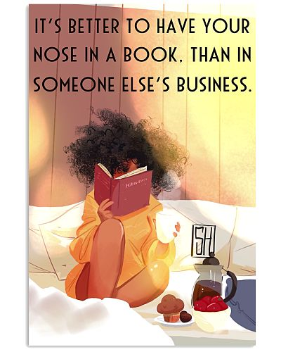 Book Had Better Have Your Nose In Book