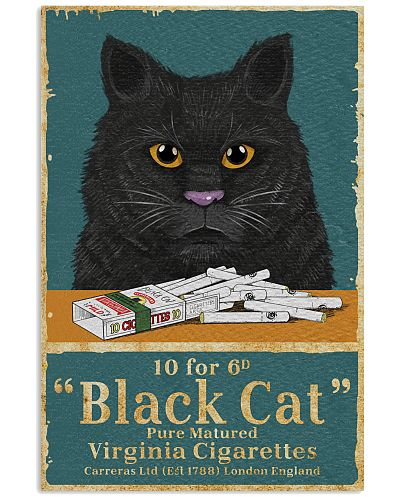 Cat 10 For 6d Black Cat Cigarettes