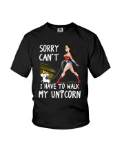 I have To Walk My Unicorn Youth T-Shirt tile