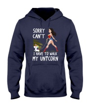 I have To Walk My Unicorn Hooded Sweatshirt tile