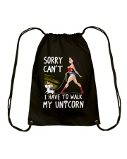 I have To Walk My Unicorn Drawstring Bag thumbnail