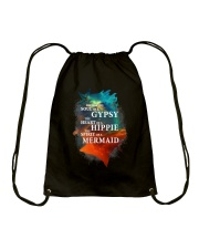 I have the spirit of a Mermaid Drawstring Bag thumbnail