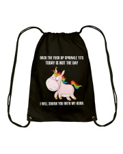 Unicorn Today is Not The Day Drawstring Bag thumbnail