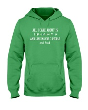 FR- All I care about Hooded Sweatshirt front