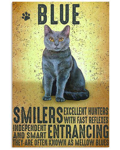 Blue Cat Vintage Poster