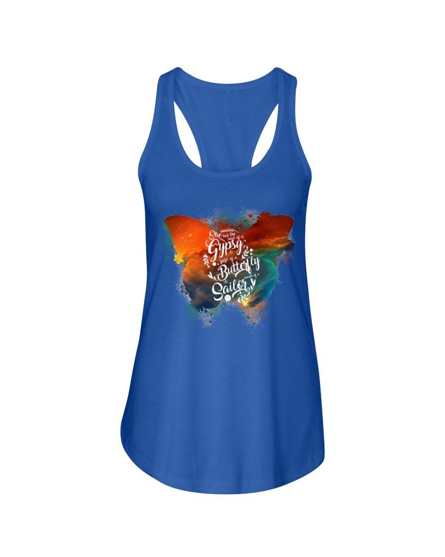 I Have The Spirit of a Butterfly Ladies Flowy Tank