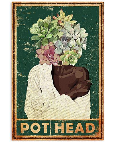 Garden Black Girl Pot Head