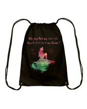 Mermaid in my dream Drawstring Bag tile