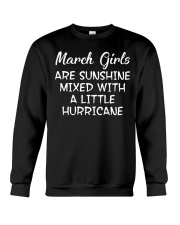 Funny- March Girls Crewneck Sweatshirt thumbnail