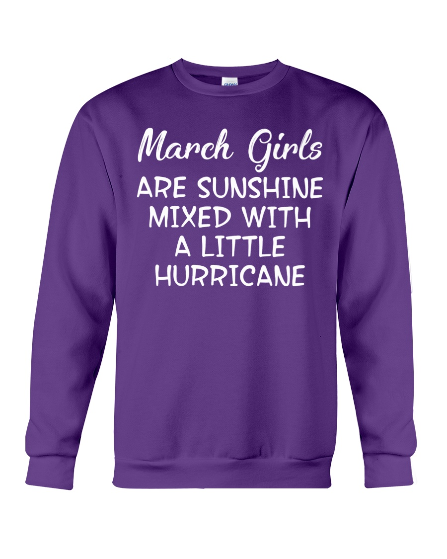 Funny- March Girls Crewneck Sweatshirt