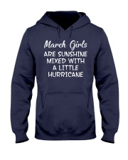 Funny- March Girls Hooded Sweatshirt tile