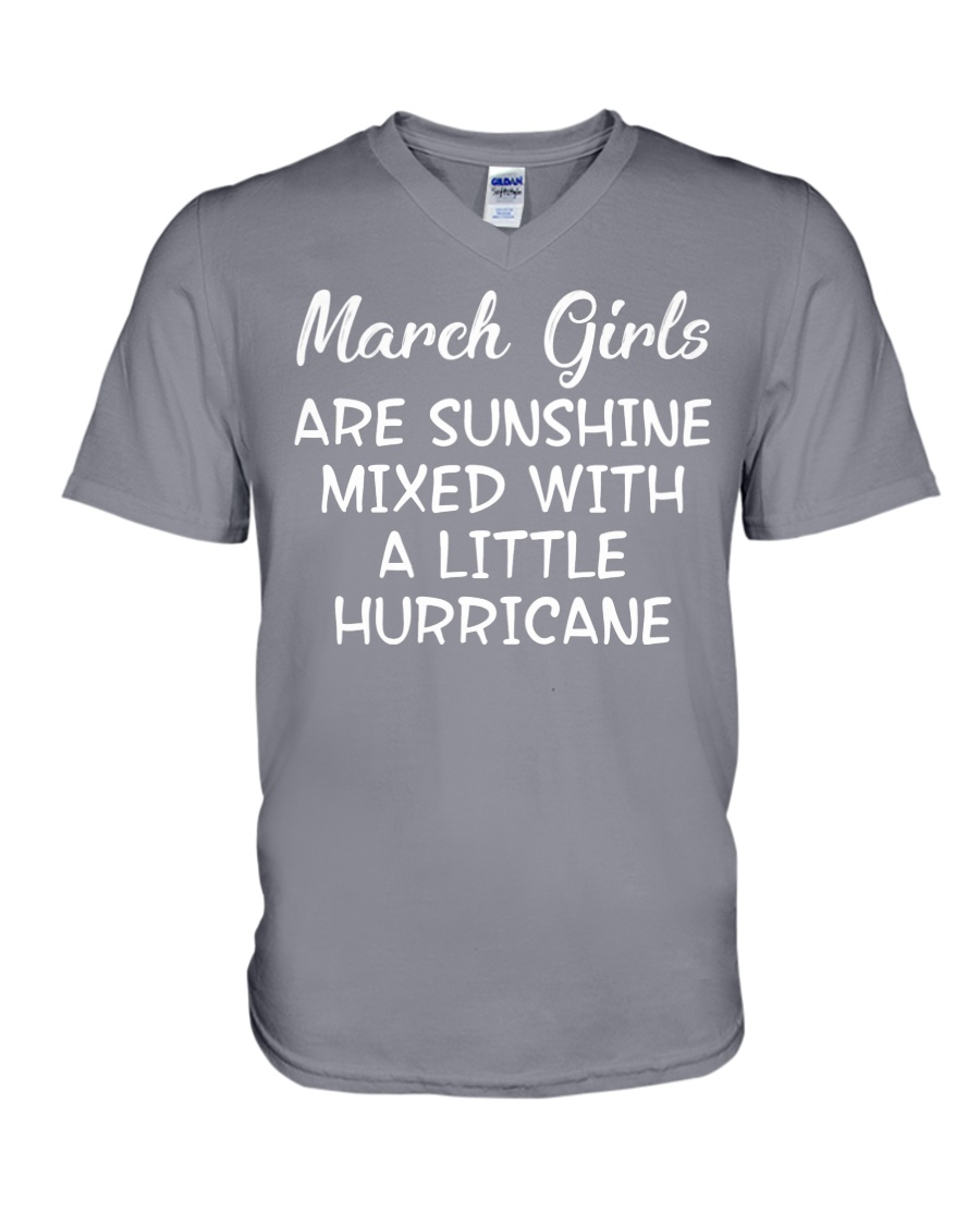 Funny- March Girls V-Neck T-Shirt