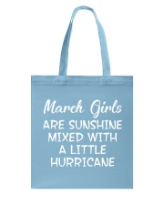 Funny- March Girls Tote Bag front