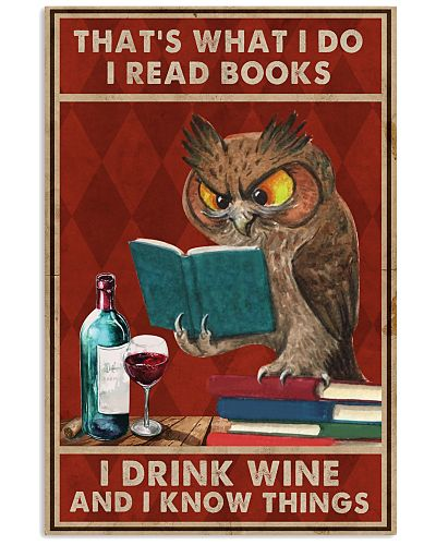Book I Drink Wine And I Know Things Poster