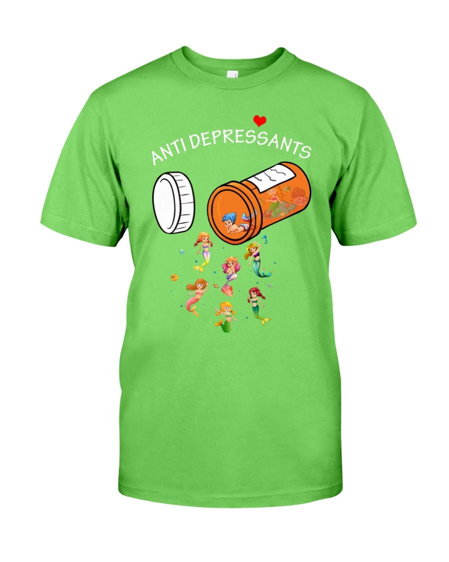 Mermaid Anti Depressants Classic T-Shirt