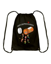 Mermaid Anti Depressants Drawstring Bag thumbnail
