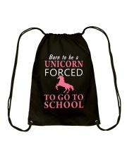 Born To Be A Unicorn Forced Drawstring Bag thumbnail