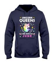 Unicorn Queens Are Born In June Hooded Sweatshirt thumbnail