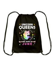 Unicorn Queens Are Born In June Drawstring Bag thumbnail