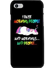 UnicornHate Morning People Phone Case thumbnail