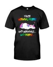 UnicornHate Morning People Classic T-Shirt thumbnail