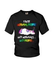 UnicornHate Morning People Youth T-Shirt thumbnail